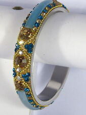 Designer Crystal Bracelet Bangle Glass Fusion Large Size Indian Wedding jewelery