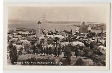 1948 Canada QUEBEC CITY from Parliament Buildings Birdseye View POSTCARD RPPC