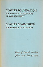Cowles Commission for Research in Economics Report 1954-1956, Yale University