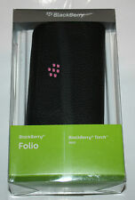100%GENUINE BLACKBERRY TORCH 9800 9810  Leather Folio Pouch Mirror + Strap - NEW