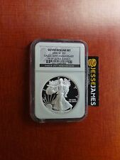 2006 W PROOF SILVER EAGLE NGC PF69 FROM 20TH ANNIVERSARY SET BLACK LABEL