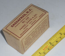 NOS 1920's Vintage Herbal Remedy Sassafras Medicine 33 Parke Davis