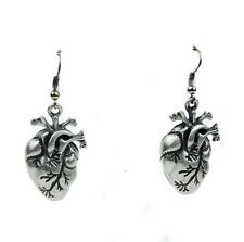 Anatomical Heart Earrings Gothic Emo Punk Metal Psychobilly Alternative Grunge