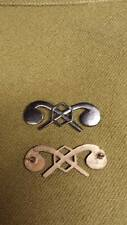 WWI US Army Officer Chemical Corps Insignia Pins, One Pair