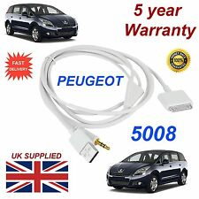 Peugeot 5008 3GS 4 4S iPhone iPod USB & Aux 3.5mm Cable USB en blanco