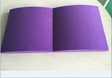 4 PCS Acoustic Material Stick on Wall New Shape Sound insulation Purple 30*30CM