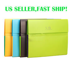 5-Pocket Exanding File Folder Document Tab Holder Cover Organizer Letter Size