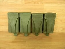TWO German Military H&K CETME G3 .308 Mag/Clip Belt Pouches Rubber OD Green