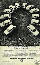 Publicité advertising 1977 VW Volkswagen Golf