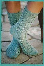 Raindrop Lace Socks - Fiber Trends Knitting Pattern AC52 -Instructions for Women