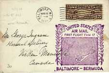 Etats Unis USA 1ers vols first flights airmail 124