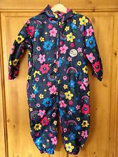 Tu Floral fleece lined Puddle Suit 18-24 Months (86-92cm) BNWT