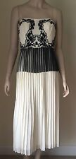 $395 NWT Nicole Miller Ainsley Paint and Lace Dress Size 6 Ivory Black