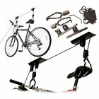 NEW BIKE LIFT RACK HANGER STORAGE STORE HOIST BICYCLE CYCLE PULLEY GARAGE