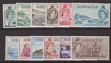 GIBRALTAR - 1953/59 QE SET TO 5/-  MINT SG.145-156 (REF.C4)