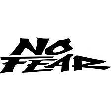 2 X NO FEAR CAR/ BIKE ADHESIVE STICKER DECALS GRAPHIC 200MM X 64 MM