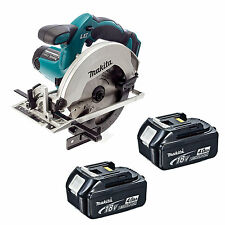 MAKITA 18V LXT DSS611 DSS611Z DSS611RFE CIRCULAR SAW AND 2 x BL1840 BATTERIES