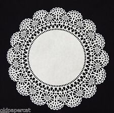 """50 - 10"""" White CAMBRIDGE LACE PAPER DOILIES for Parties Weddings Invitations"""