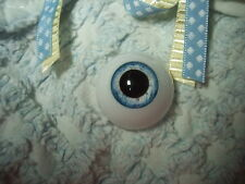 LiFe LiKe AcRyLiC EyEs 22MM IcE BLuE LARGE PUPIL ~ REBORN DOLL SUPPLIES