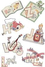 Vintage Embroidery Transfer repo 7317 ABCs Alphabets for cloth Book or Quilt 40s