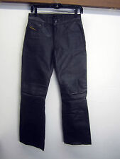 vtg Diesel Industry Denim Division Leather Pants black lined sz 27x31 EUC!