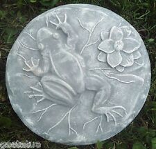 "plaster,concrete Frog on pad stepping stone plastic mold mould 13"" x 1.5"" thick"