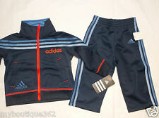 ADIDAS LITTLE BOYS TRICOT  JACKET & PANT SET SZ 18 MOS NEW WITH TAG