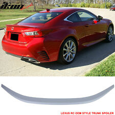 Fit 2015-2016 Lexus RC200t RC300 RC350 OE Style Trunk Spoiler Unpainted - ABS