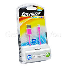 Energizer MFi Certified Lightning USB iPhone 6/6S/5S/SE Data Sync Charger Cable