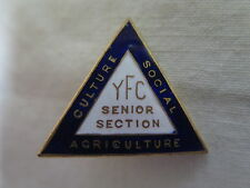 JUNIOR FARMERS CLUB BADGE SENIOR SECTION in BRASS & ENAMEL c1960s AUSTRALIAN