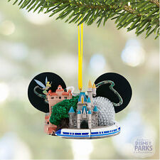 Authetic Disney Four Parks Walt Disney World Ear Hat Ornament with Tinker Bell