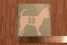 3 x Wheelie Bin Numbers Chihuahua House Number Sticker Recycle Sign Dog
