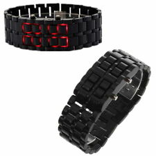 Black LED Digital Samurai Lava Wrist Watch Plastic Sports Mens Womens Unisex LO