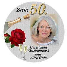 Tortenaufleger Zuckerfolie Geburtstag Durchmesser 20 cm oder eckig 20 x 28 cm