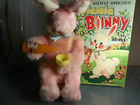 VINTAGE PICNIC BUNNY BATTERY OPERATED ALPS TOY MADE IN JAPAN