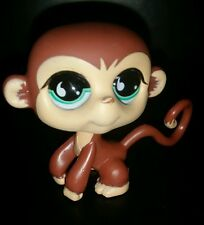 Littlest Pet Shop LPS #655 Monkey with tear drop glass eyes