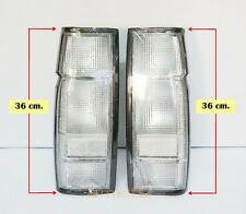CLEAR LENS REAR TAIL LIGHT LAMP LONG 36CM PAIR L+R FOR NISSAN NAVARA D21 PICKUP
