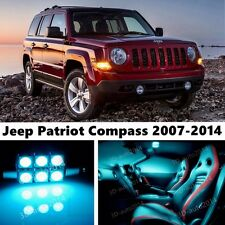 9pcs LED ICE Blue Light Interior Package Kit for Jeep Patriot Compass 2007-2014