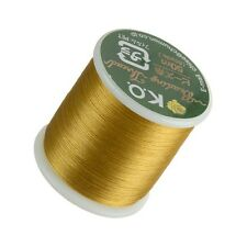 KO Gold Japanese Nylon Beading Thread 50 Metre Reel Pre-waxed (D50/6)