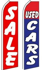 Car Auto Dealer Swooper Flutter Feather Flags 2 pack-SALE (Red)-Used Cars