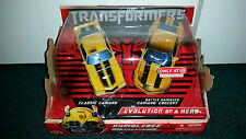 Bumblebee Evolution Of A Hero 2-Pack Camaro GM Transformers Movie 1 Hasbro 2007