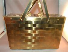 DELICIOUS Vintage Woven Brass Metal Dbl Handled Dorset Rex Handbag/Purse