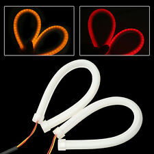 2x45cm Flexible Soft Tube LED Strip DRL Red Amber Switchback Turn Signal Light