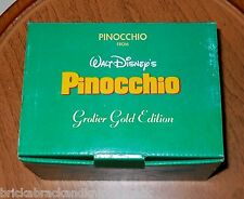 "PINOCCHIO ""GROLIER GOLD ED. PORCELAIN ORNAMENT"" DISNEY COLLECTABLE, MIB!"