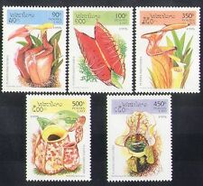 Laos 1995 Insectivorous Plants/Insect Eating/Flowers/Nature 5v set (b8145)