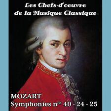 CD Les chefs-d'oeuvre de la musique classique - MOZART - Symphonies nos 40-24-25