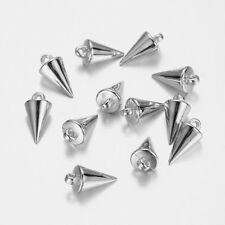 10 Stück Acryl Anhänger - SILBERFARBEN - Charms Acryl Perlen von Bastelconcepte