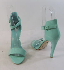 """Turquoise   4"""" high Stiletto heel open toe ankle strap sexy shoes   SIZE  7.5"""