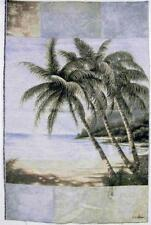 Large Tapestry Wall Hanging Palm Tree Trees Tropical Beach Ocean Island Green