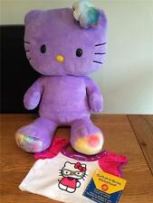 BUILD A BEAR FACTORY RARE & HTF PURPLE HELLO KITTY & NEW GEEK TEE